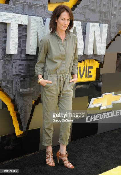 Annabeth Gish arrives at the premiere of Warner Bros Pictures' 'The LEGO Batman Movie' at Regency Village Theatre on February 4 2017 in Westwood...