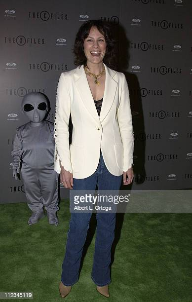 Annabeth Gish during 'The XFiles' Series Finale Wrap Party at The House Of Blues in West Hollywood California United States