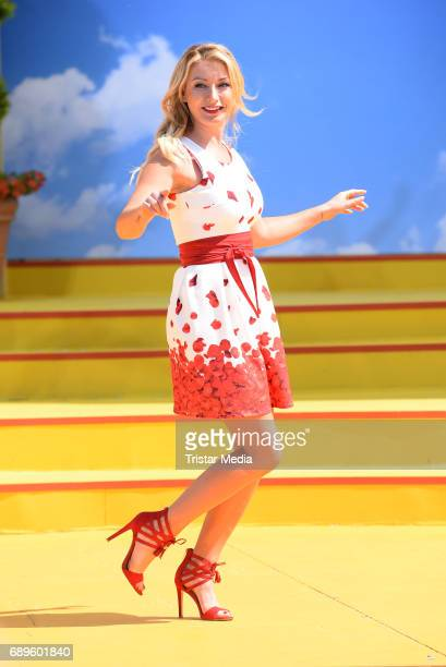 AnnaCarina Woitschack performs in the ARD Live TV Show 'Immer wieder Sonntags' in Rust at the EuropaPark on May 28 2017 in Rust Germany
