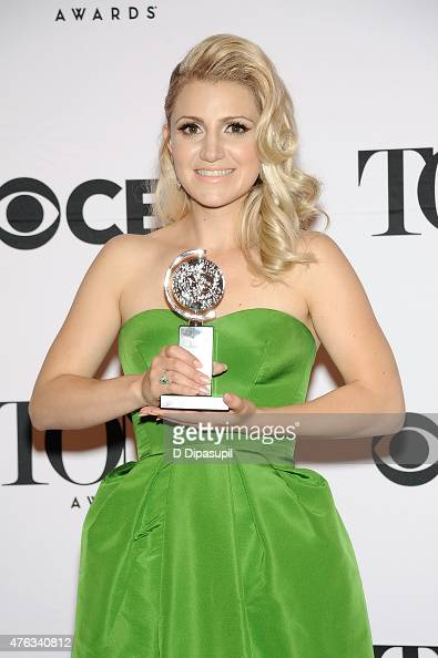 Annaleigh Ashford poses in the press room during the American Theatre Wing's 69th Annual Tony Awards at Radio City Music Hall on June 7 2015 in New...