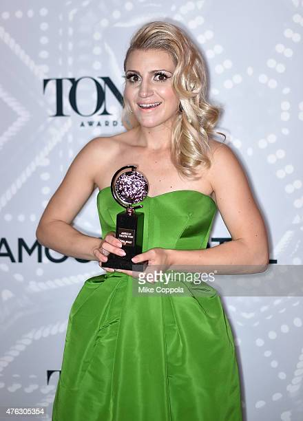 Annaleigh Ashford winner of the award for Best Performance by an Actress in a Featured Role in a Play for 'You Can't Take It With You' poses in the...