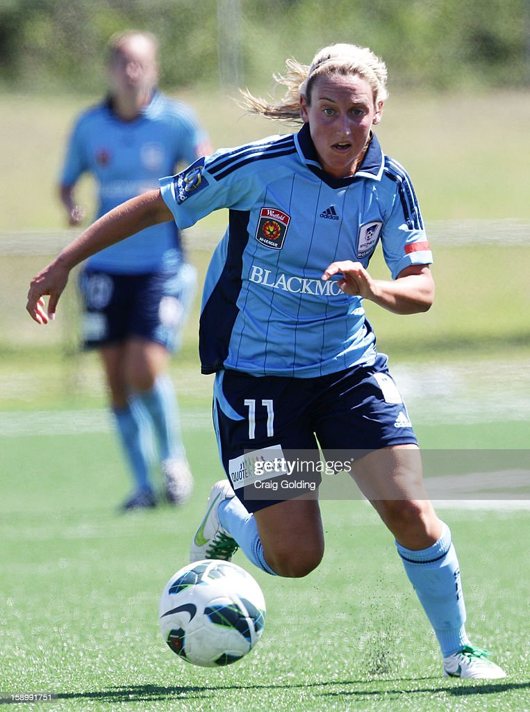 <a gi-track='captionPersonalityLinkClicked' href=/galleries/search?phrase=Annalie+Longo&family=editorial&specificpeople=4490008 ng-click='$event.stopPropagation()'>Annalie Longo</a> of Sydney kicks the ball during the round 11 W-League match between Sydney FC and the Brisbane Roar on January 5, 2013 in Sydney, Australia.