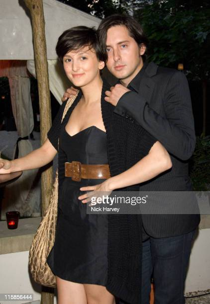 Annalisa Astarita and Carl Barat during Le Tousseroc hosts Party at the Hempel in London June 12 2007 in London United Kingdom