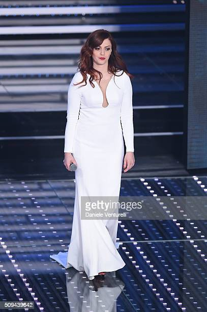 Annalisa attends second night of the 66th Festival di Sanremo 2016 at Teatro Ariston on February 10 2016 in Sanremo Italy
