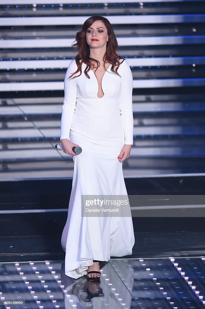 Annalisa attends second night of the 66th Festival di Sanremo 2016 at Teatro Ariston on February 10, 2016 in Sanremo, Italy.