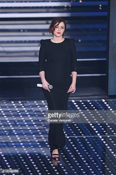 Annalisa attends the closing night of 66th Festival di Sanremo 2016 at Teatro Ariston on February 13 2016 in Sanremo Italy