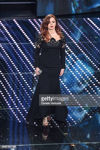 Annalisa attends the fourth night of the 66th Festival di Sanremo 2016 at Teatro Ariston on February 12 2016 in Sanremo Italy