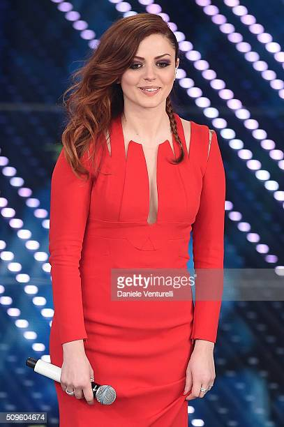 Annalisa attends the third night of the 66th Festival di Sanremo 2016 at Teatro Ariston on February 11 2016 in Sanremo Italy