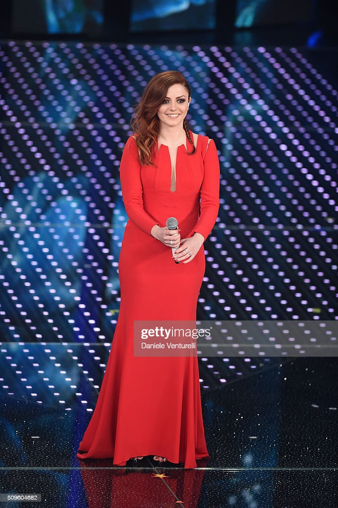 Annalisa attends the third night of the 66th Festival di Sanremo 2016 at Teatro Ariston on February 11, 2016 in Sanremo, Italy.