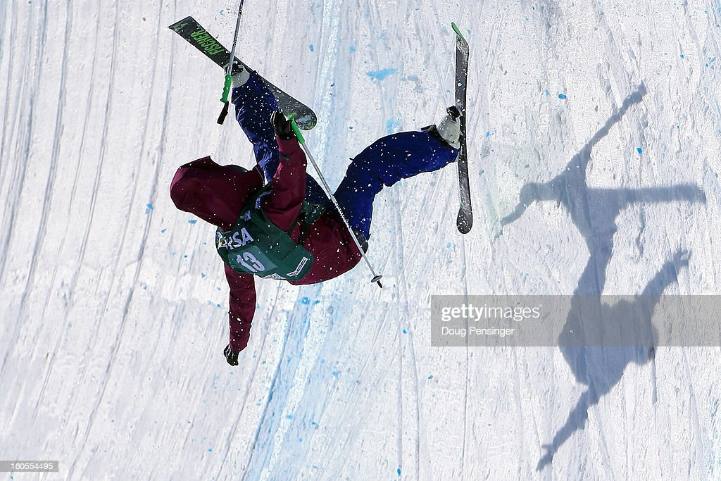 Annalisa Drew of the USA takes a fall during the finals of the ladies FIS Freestyle Ski Halfpipe World Cup during the Sprint U.S. Grand Prix at Park City Mountain on February 2, 2013 in Park City, Utah.