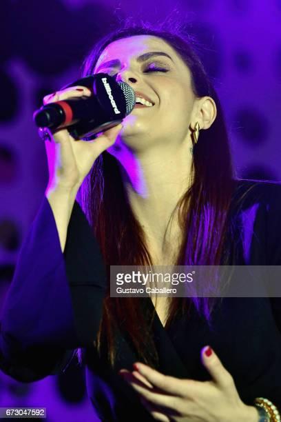 Annalisa performs at the Billboard Latin Conference 2017 at Ritz Carlton South Beach on April 25 2017 in Miami Beach Florida
