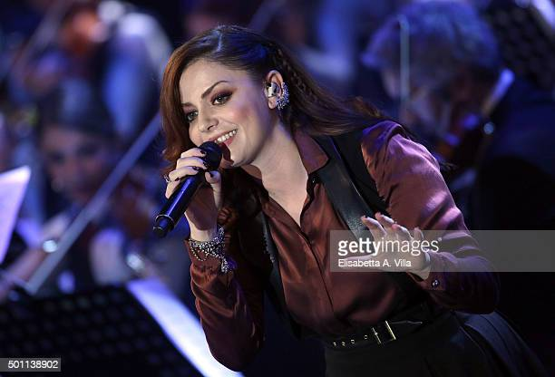 Annalisa performs during the 23rd Christmas Concert at Auditorium Conciliazione on December 12 2015 in Rome Italy