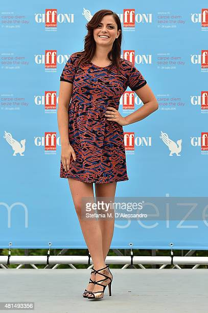 Annalisa Scarrone attends Giffoni Film Festival 2015 Day 5 photocall on July 21 2015 in Giffoni Valle Piana Italy