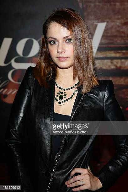 Annalisa Scarrone attends the Blugirl show as a part of Milan Fashion Week Womenswear Spring/Summer 2014 on September 19 2013 in Milan Italy
