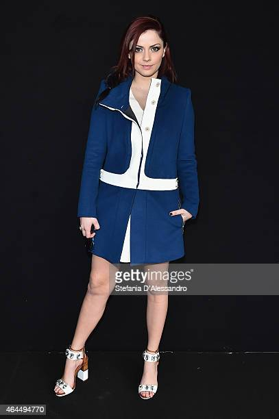 Annalisa Scarrone attends the Just Cavalli show during the Milan Fashion Week Autumn/Winter 2015 on February 26 2015 in Milan Italy