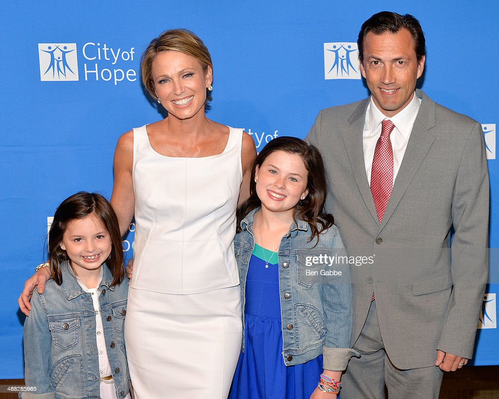 Annalise Mcintosh, <a gi-track='captionPersonalityLinkClicked' href=/galleries/search?phrase=Amy+Robach&family=editorial&specificpeople=3075672 ng-click='$event.stopPropagation()'>Amy Robach</a>, Ava Mcintosh and actor <a gi-track='captionPersonalityLinkClicked' href=/galleries/search?phrase=Andrew+Shue&family=editorial&specificpeople=221556 ng-click='$event.stopPropagation()'>Andrew Shue</a> attend 2014 'Spirit Of Life' Awards Luncheon at The Plaza Hotel on May 5, 2014 in New York City.