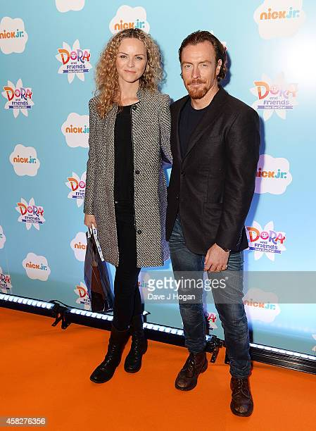 AnnaLouise Plowman and Toby Stephens attend Dora and Friends Into the City UK Premiere at The Empire Cinema on November 2 2014 in London England