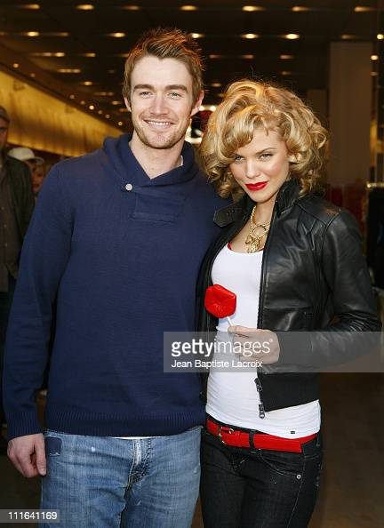 AnnaLynne McCord and Robert Buckley sighting at Armani Exchange on February 7 2009 in Santa Monica California
