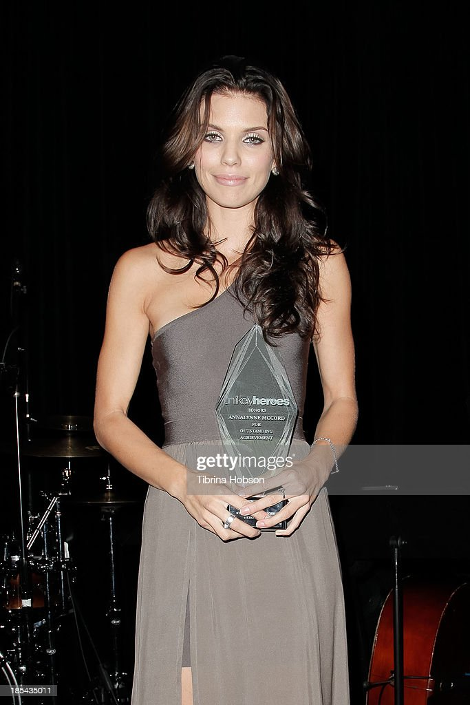 <a gi-track='captionPersonalityLinkClicked' href=/galleries/search?phrase=AnnaLynne+McCord&family=editorial&specificpeople=4070122 ng-click='$event.stopPropagation()'>AnnaLynne McCord</a> attends at the Unlikely Heroes' recognizing heroes awards dinner And gala at W Hollywood on October 19, 2013 in Hollywood, California.