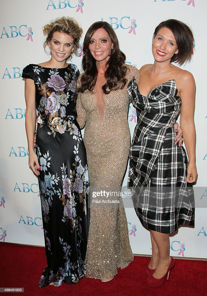 AnnaLynne McCord, Carlton Gebbia and Nicky Whelan attend the 25th annual 'Talk Of The Town' black tie gala at The Beverly Hilton Hotel on November 22, 2014 in Beverly Hills, California.