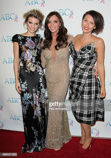 AnnaLynne McCord Carlton Gebbia and Nicky Whelan attend the 25th annual 'Talk Of The Town' black tie gala at The Beverly Hilton Hotel on November 22...