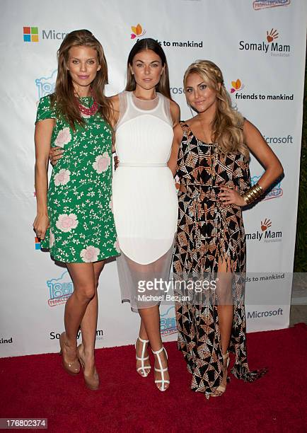 Annalynne McCord Serinda Swan and Cassie Scerbo attend 18for18 Summer Soiree Honoring Somaly Mam Foundation on August 18 2013 in Venice California