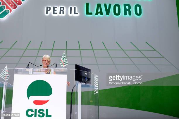 Annamaria Furlan Secretary General of CISL Union during the XVIII Confederal Congress Of The CISL Trade Union on June 29 2017 in Rome Italy