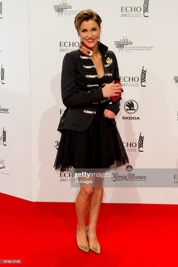 Anna-Maria Zimmermann on the red carpet during the ECHO German Music Award in Berlin, Germany on April 06, 2017.