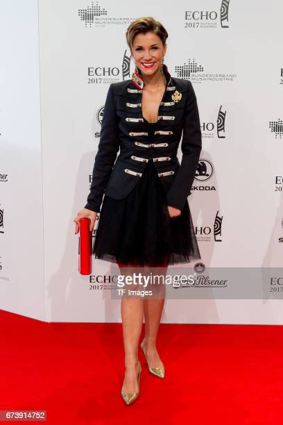 AnnaMaria Zimmermann on the red carpet during the ECHO German Music Award in Berlin Germany on April 06 2017