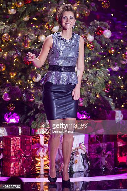 AnnaMaria Zimmermann performs during the 'Heiligabend mit Carmen Nebel' TV show at Bavaria Filmstudios on November 26 2015 in Munich Germany