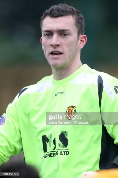 Annan Athletic goalkeeper Alex Mitchell