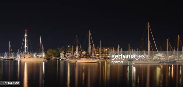 Annapolis harbor at night
