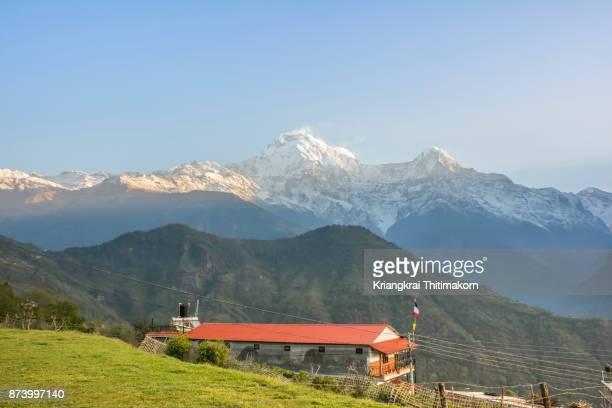 Annapurna Based Camp Trekking: Annapurna ranges in Ghandruk village, Nepal.