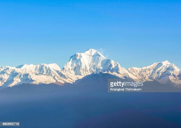 Annapurna Massif Mountain range in Nepal.