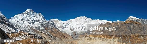 Annapurna Sanctuary snow Himalaya mountains panorama