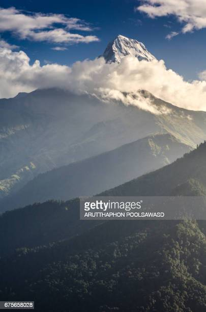Annapurna South from Poon hill with sunrise time , pokhara , Nepal