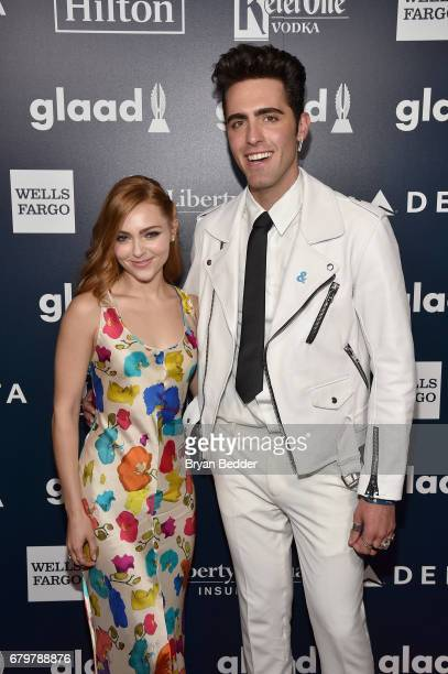 AnnaSophia Robb and David Simon Dayan attend 28th Annual GLAAD Media Awards at The Hilton Midtown on May 6 2017 in New York City