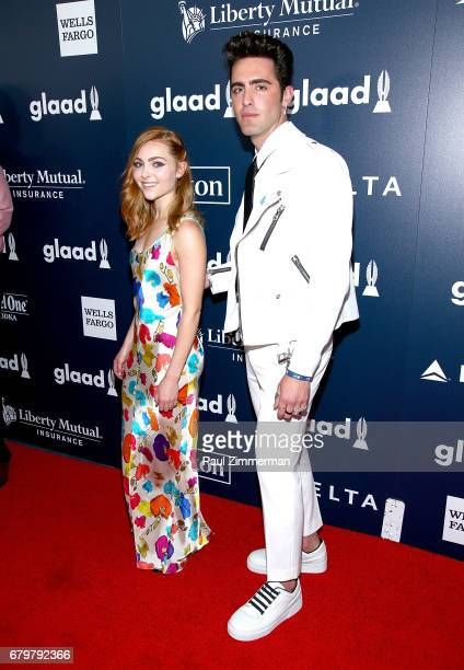 AnnaSophia Robb and David Simon Dayan attend the 28th Annual GLAAD Awards at New York Hilton Midtown on May 6 2017 in New York City