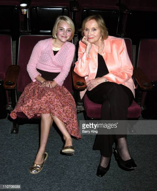 AnnaSophia Robb and Eva Marie Saint during The Actors Studio Play Opening of 'Fences' Directed by Jeffrey Hayden April 21 2006 at The Actors Studio...