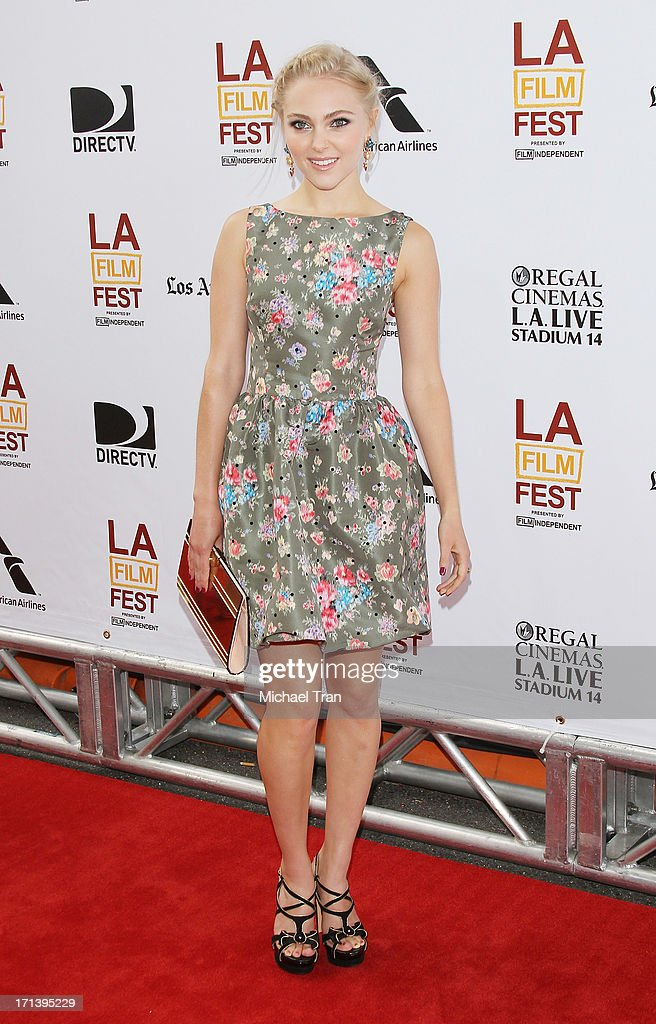 <a gi-track='captionPersonalityLinkClicked' href=/galleries/search?phrase=AnnaSophia+Robb&family=editorial&specificpeople=674007 ng-click='$event.stopPropagation()'>AnnaSophia Robb</a> arrives at the 2013 Los Angeles Film Festival 'The Way, Way Back' closing night gala held at Regal Cinemas L.A. LIVE Stadium 14 on June 23, 2013 in Los Angeles, California.