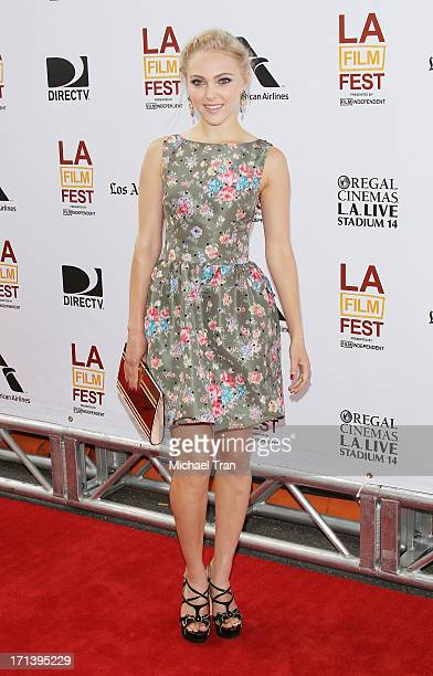 AnnaSophia Robb arrives at the 2013 Los Angeles Film Festival 'The Way Way Back' closing night gala held at Regal Cinemas LA LIVE Stadium 14 on June...