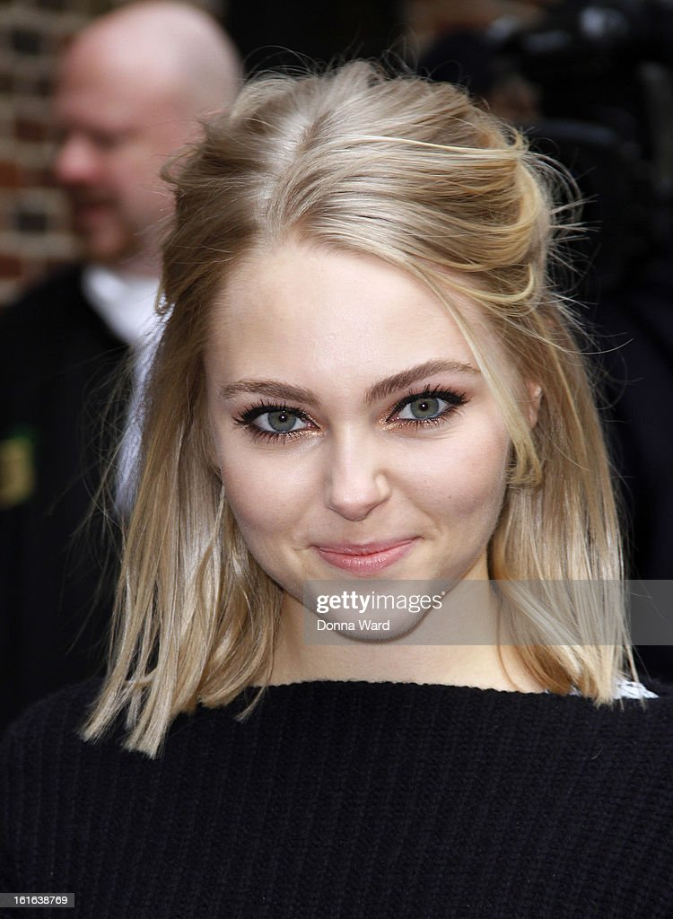 AnnaSophia Robb arrives for 'The Late Show with David Letterman' at Ed Sullivan Theater on February 13, 2013 in New York City.
