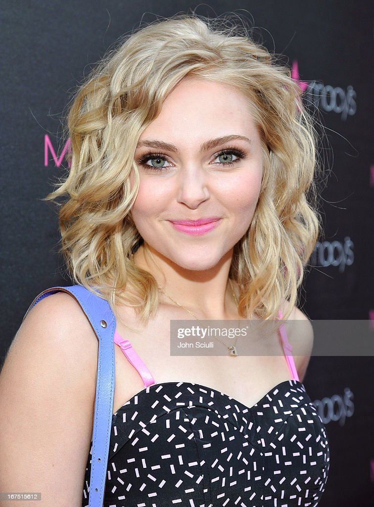 Annasophia Robb attends Madonna's 'Fashion Evolution' Pop-Up Exhibit, hosted by Material Girl at Macy's Westfield Century City on April 25, 2013 in Century City, California.