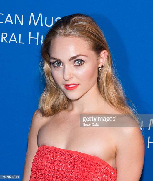 AnnaSophia Robb attends the 2015 American Museum of Natural History Museum Gala at American Museum of Natural History on November 19 2015 in New York...