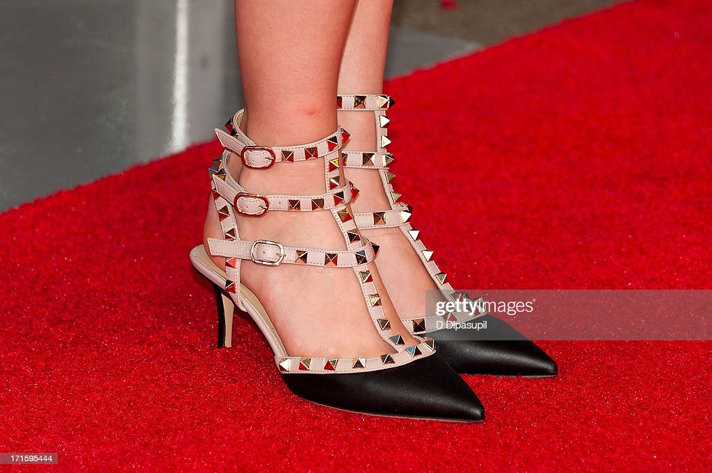 <a gi-track='captionPersonalityLinkClicked' href=/galleries/search?phrase=AnnaSophia+Robb&family=editorial&specificpeople=674007 ng-click='$event.stopPropagation()'>AnnaSophia Robb</a> (shoe detail) attends 'The Way, Way Back' premiere at AMC Loews Lincoln Square on June 26, 2013 in New York City.