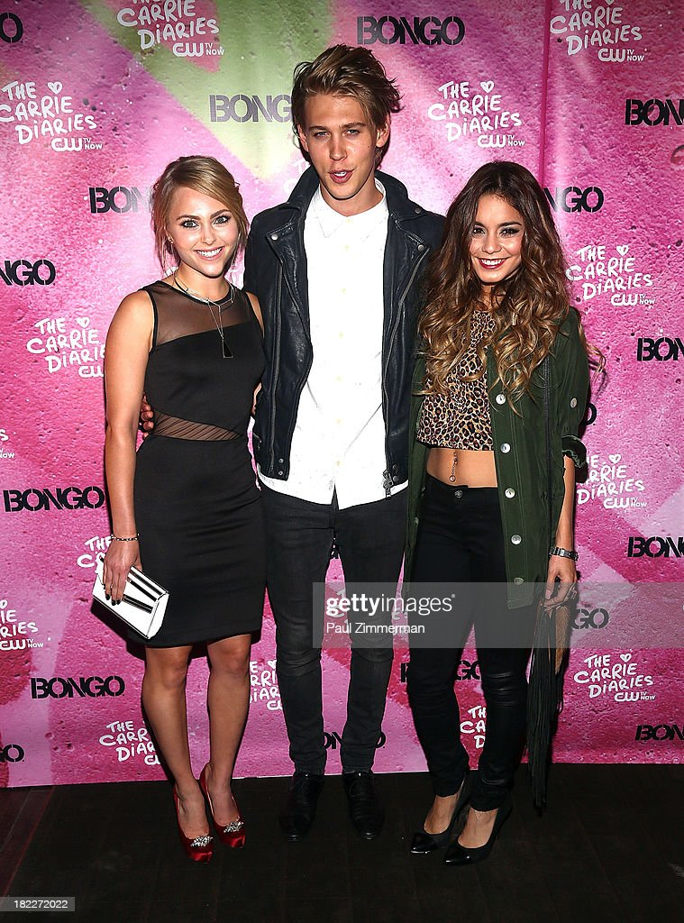 AnnaSophia Robb, Austin Butler and Vanessa Hudgens attend 'The Carrie Diaries' Season Two Premiere Party at Gansevoort Park Avenue on September 28, 2013 in New York City.