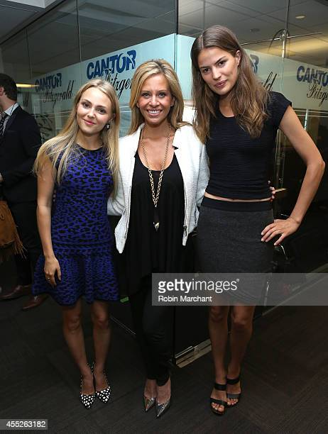 AnnaSophia Robb Dina Manzo and Cameron Russell attend Annual Charity Day Hosted By Cantor Fitzgerald And BGC at Cantor Fitzgerald on September 11...
