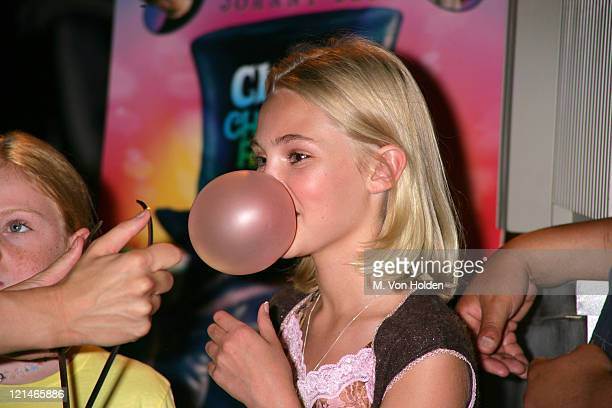 Annasophia Robb during Annasophia Robb hosts a bubble gum bubble blowing contest at Planet Hollywood Times Square in New York New York United States