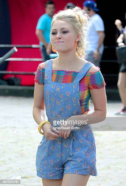 AnnaSophia Robb is seen filming 'The Carrie Diaries' on July 30 2013 in New York City