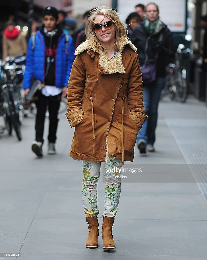 AnnaSophia Robb is seen in SoHo on March 22, 2013 in New York City.